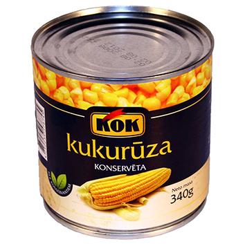 Kukurūza konservēta Kok 340g/285