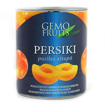 Persiku pusītes sīrupā 850ml