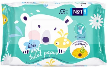 Mitrais tualetes papīrs Bella Kids Nr.1 52gb