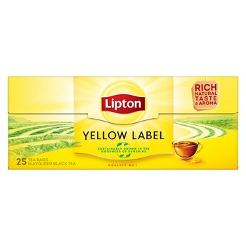 Tēja Lipton Yellow label melnā 25TM 50g