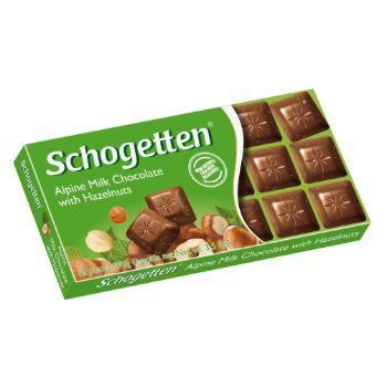 Šokolāde Schogetten lazdu riekstu 100g
