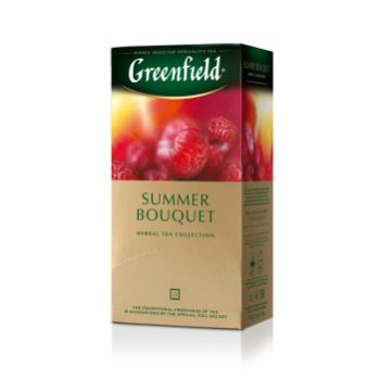 Tēja Greenfield zaļā Summer Bouquet 25gb 50g