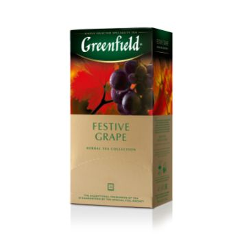 Tēja Greenfield zaļā Festive Grape 25gb 50g