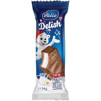Batoniņš Delish ar piena krēmu piena šokolādes gl. 34g