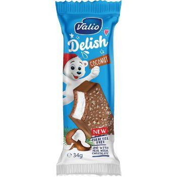 Batoniņš Delish ar piena krēmu šokolādes gl.kokosriekstu 34g