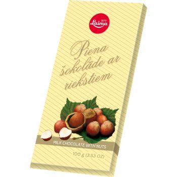 Šokolāde Piena ar riekstiem Laima 100g