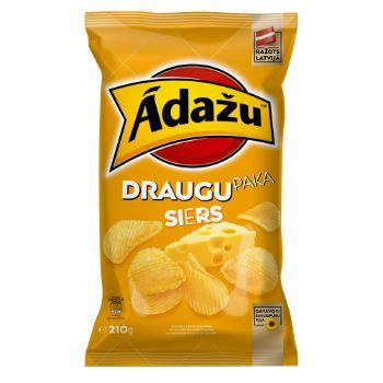 Čipsi Ādažu draugu paka siers 210g