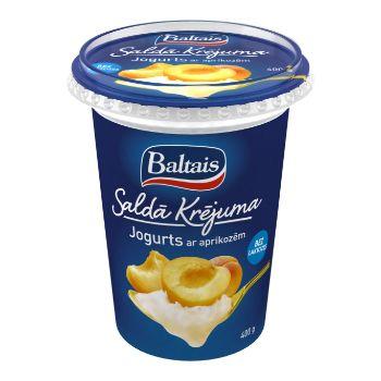 Jogurts saldā krējuma ar aprikozēm  400g