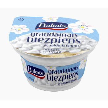 Graudainais biezpiens Baltais 7.1% 130g