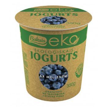 Jogurts Ekoloģiskais ar mellenēm 2.8-3.6% 350g