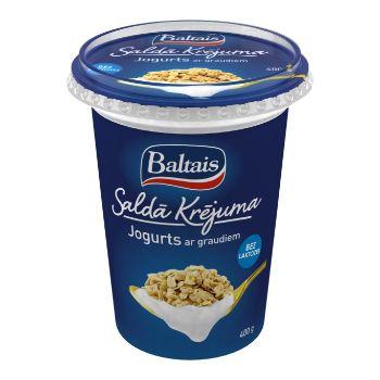 Jogurts saldā krējuma ar graudiem 5% 400g