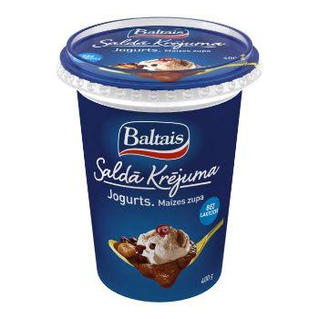 Jogurts saldā krējuma maizes zupa 5% 400g