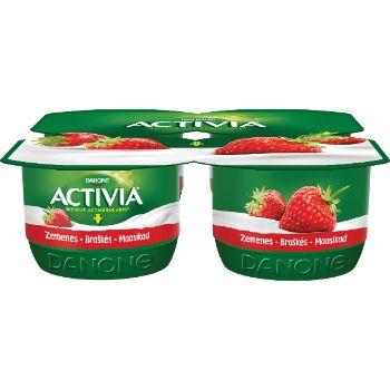 Jogurts Activia zemeņu 4*120g