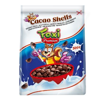 Sausās brok. kakao gliemežvāciņi Foxi 500g