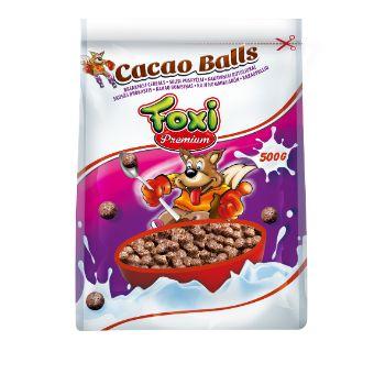 Sausās brok. bumbiņas ar kakao Foxi 500g
