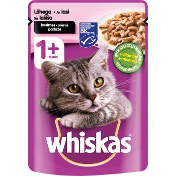 Barība kaķiem Whiskas ar lasi un foreli 100g