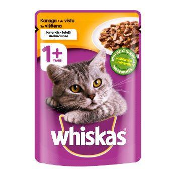 Barība kaķiem Whiskas ar cāļa gaļa 100g