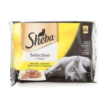 Barība kaķiem Sheba mājputnu gaļas izlase 340g