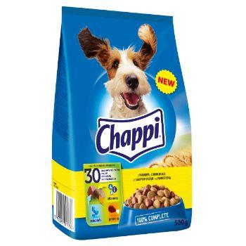 Barība suņiem Chappi ar mājputnh.gaļu - dārzeņiem 500g