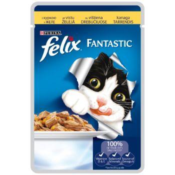 Barība kaķiem Felix konservs gaļas gabaliņi vista 100g