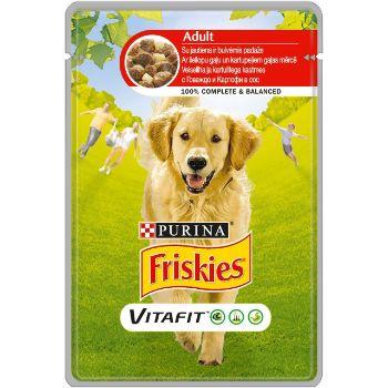 Barība suņiem Friskies Adult konservs liellops/kartupeļi 100