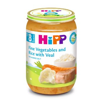 Pārtika bērniem Hipp teļa gaļa ar dārzeņiem BIO 220g