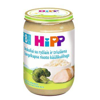 Biezenis Hipp rīsi ar brok.190g