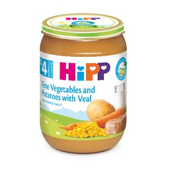 Pārtika bērniem Hipp teļa gaļa ar dārzeņiem 190g