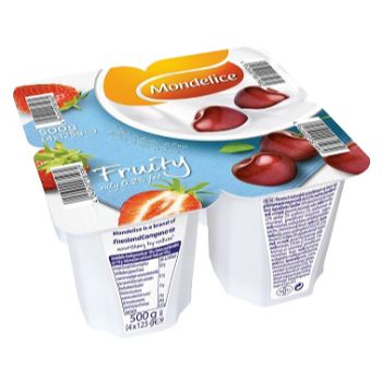 Jogurts Mondelice 0.2% zemeņu-ķiršu 125g