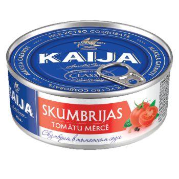 Skumbrija tomātu mērcē 240g EO Kaija