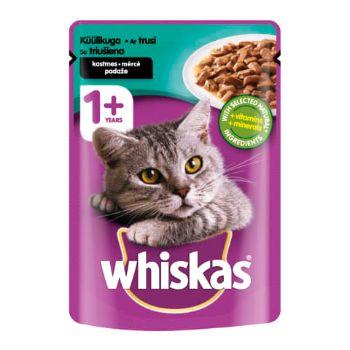 Barība kaķiem Whiskas ar truša gaļu maisiņš  100g