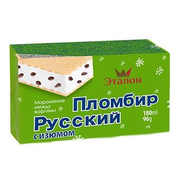 Saldējuma sendvičš vaniļas ar rozīnēm 180ml/96g