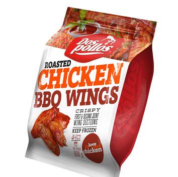 Ceptas cāļa spārnu daļas BBQ sasaldētas 600g