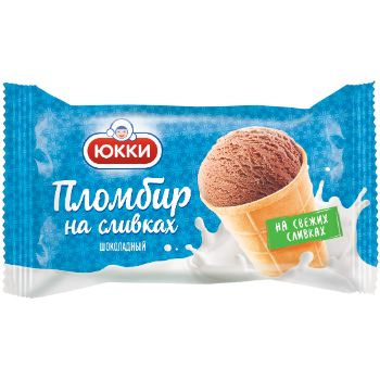 Saldējums saldkrējuma plombīrs šokolādes Yukki 130ml/75g