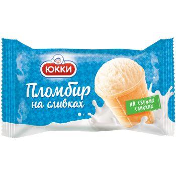 Saldējums saldrējuma plombīrs vaniļas Yukki 130ml/75g