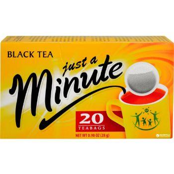 Tēja Just a Minute melnā 20gb 28g
