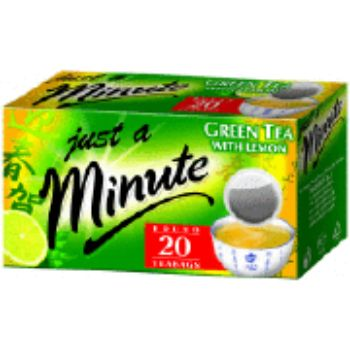 Tēja Just a Minute zaļā ar citronu 20gb 28g