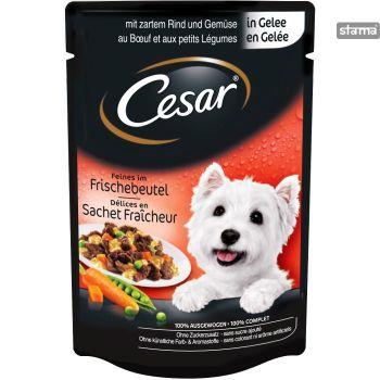 Barība suņiem Cesar maigs lielops ar dārzeņiem 100g