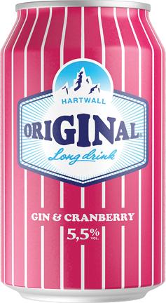 Alk.kokt. Hartwall original  cranberry 5.5% 0.33l