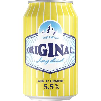 Alk.kokt. Hartwall original lemon 5.5% 0.33l