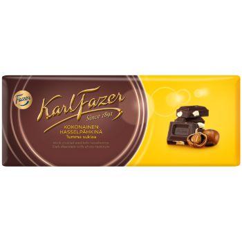 Šokolāde Fazer tumšā ar veseliem lazdu riekstiem 200g