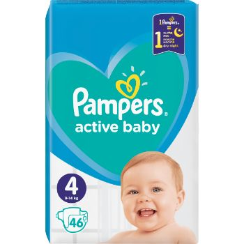Autiņbiksītes Pampers Active Baby S4 46gb VPM