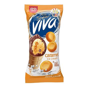 Saldējums Super Viva karameļu 180ml/97g