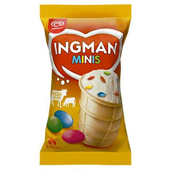 Saldējums Ingman vaniļas ar dražejām 120ml/68g