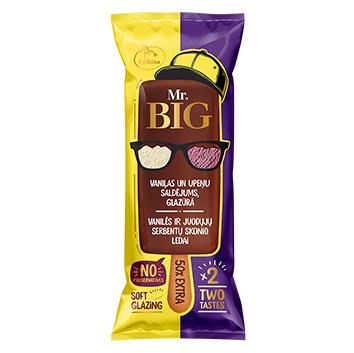 Saldējums MR.Big vaniļas un upeņu šok.glazūrā uz kociņa150ml