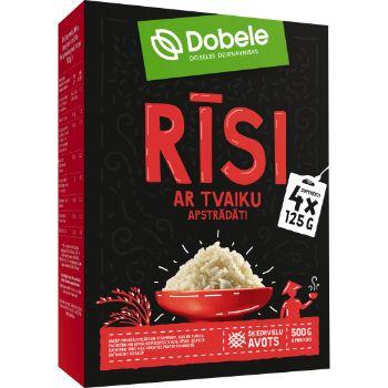 Rīsi Dobele ar tvaika apstrādi kastītē 4x125g