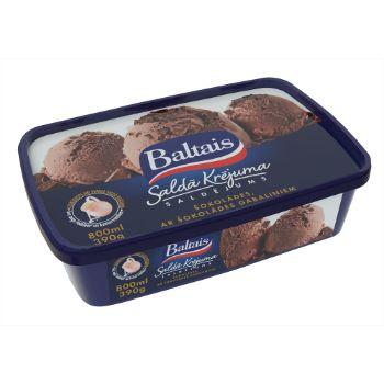 Saldējums šokolādes krējuma ar šok.gab.Baltais 800ml/390g
