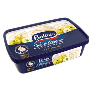 Saldējums saldā krējuma ar cidonijām Baltais 800ml