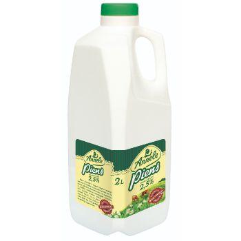 Piens pasterizēts Annele 2.5% pudelē 2l