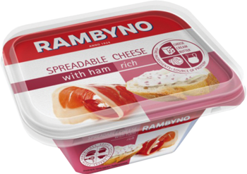 Kausētais siers Rambyno ar šķiņķi 175g